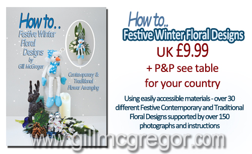 Over 30 different Festive Flower Arranging Designs with over 150 photographs & instructions