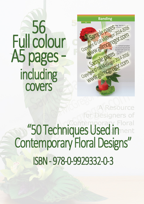 Flower Arranging Books by Gill McGregor | 50 Techniques Used in Contemporary Floral Designs