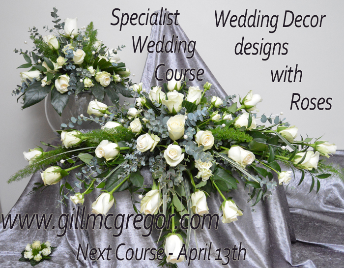 One Day Specialist Wedding Course - Wedding  Venue décor with Roses
