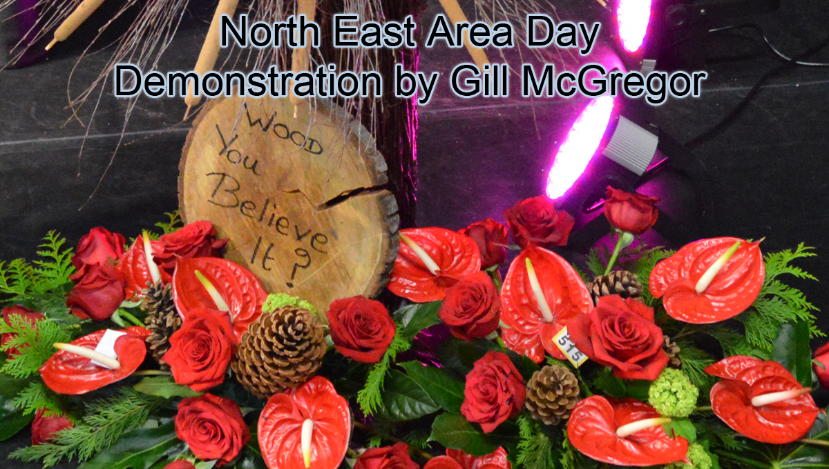 NAFAS North East Area Day Floral Art Demonstration by Gill McGregor